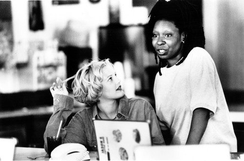 Whoopi Goldberg wallpaper possibly containing a sign and a street titled Boys on the side