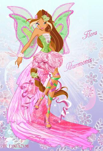 Winx Club Flora kertas dinding entitled Harmonix