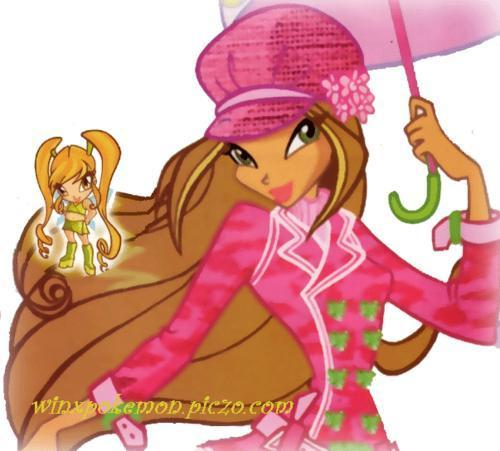 Winx Club Flora kertas dinding possibly containing Anime titled Season Three