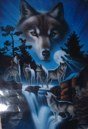 Wonderful loup art.