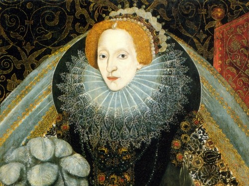 Women in History वॉलपेपर probably containing a dashiki, a brussels lace, and a mantilla, मंटिला entitled क्वीन Elizabeth I