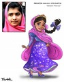 Malala Yousafzai - Defiant Princess - women-in-history fan art