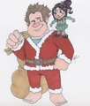 Ralph and Vanellope - wreck-it-ralph fan art