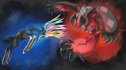 Xerneas Yveltal And Zygarde Wallpaper Probably With Anime Called X Vs Y