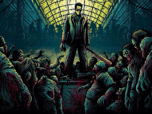 Zombies wallpaper containing a conservatory and a fountain titled Dead Rising Zombies