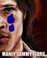 manly sammy tears - sam-winchester fan art