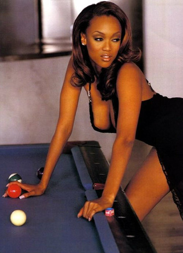 Tyra Banks karatasi la kupamba ukuta containing a billiard room, a pool table, and a poolroom titled my pics