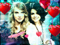 selena and taylor - taylor-swift-and-selena-gomez fan art