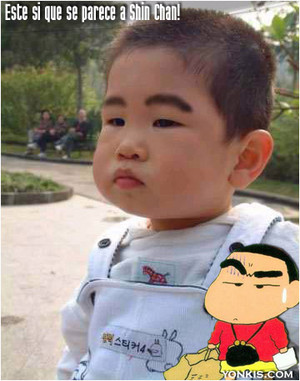 alook like of shin chan