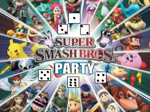 Super Smash Bros. Brawl वॉलपेपर with a stained glass window and ऐनीमे titled super smash bros PARTY