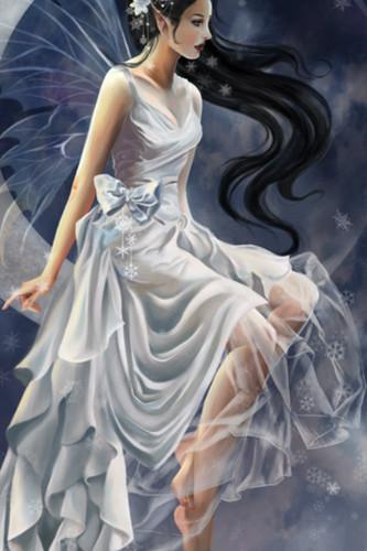 妖精 壁紙 with a ガウン called white fairy