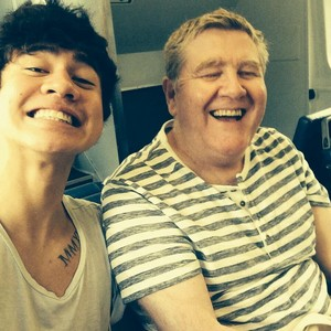 Calum and his father