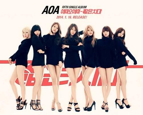 AOA (Ace of angles wallpaper entitled AOA 5th Single Album「MINISKIRT」