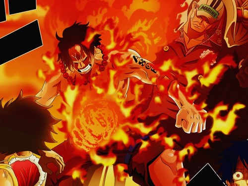 ace and luffy fighting wallpaper - photo #14