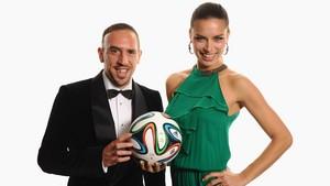 Adriana Lima and Franck Ribery
