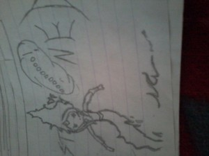 A flame princess pic drawn by me