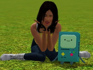 Me Simmy with Beemo :3