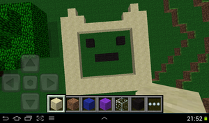 finn(made on minecraft)