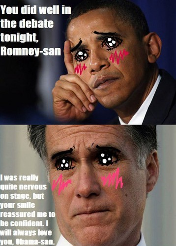 anime debat wallpaper containing a business suit titled Romney-san