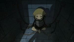 Medusa in a child's body in Soul Eater