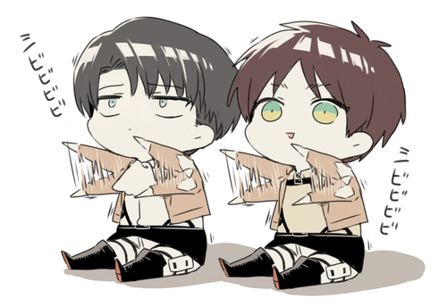 animê wallpaper possibly containing animê titled chibi Ereri