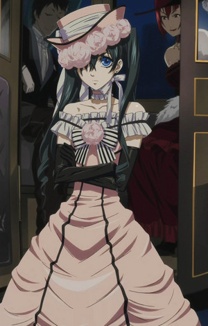 Ciel Phantomhive in a dress