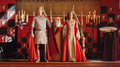 What would red coronation dress look like! - arthur-and-gwen photo