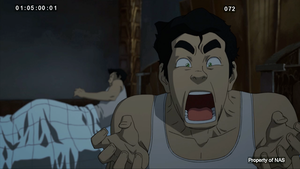 Book 3 picture(Mako and Bolin and Bolin yelling)