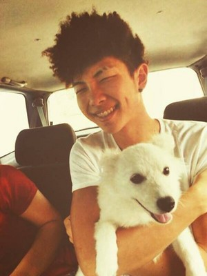 Rap Monster and a Dog 2