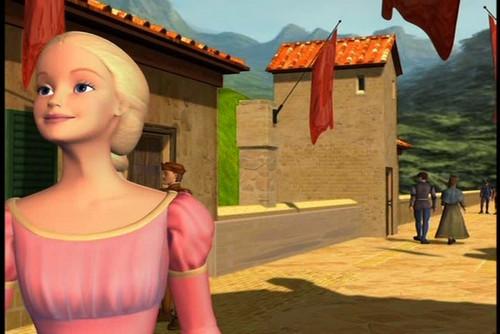 Barbie as Rapunzel wolpeyper entitled Rapunzel at Town