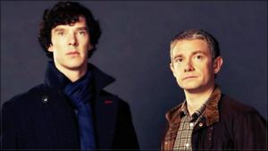 Benedict and Martin in Sherlock