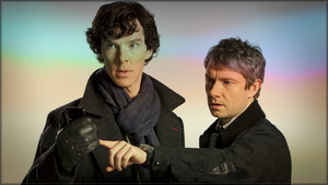 Benedict and Martin in Sherlock