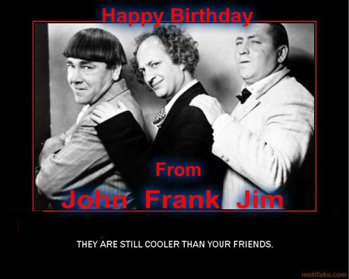 Three Stooges wallpaper probably containing a business suit, a concert, and a portrait called Birthday