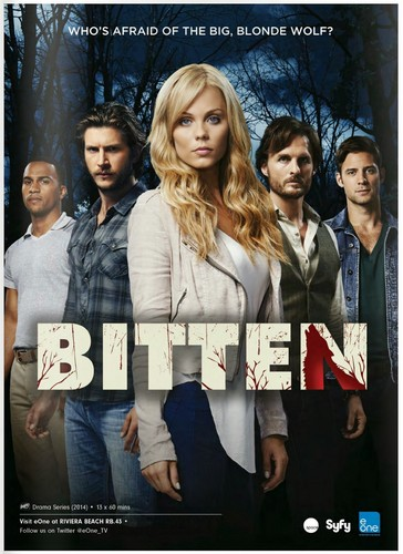 Bitten TV Series wallpaper possibly with a sign, a well dressed person, and an outerwear called Bitten Season 1 Promotional