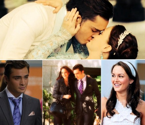Blair & Chuck 壁紙 containing a bridesmaid, a business suit, and a dress suit titled Chuck ベース and Blair Waldorf ベース