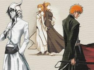Ulquiorra, Orihime and Ichigo