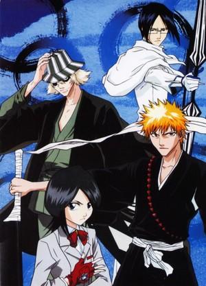Urahara, Ishida, Rukia and Ichigo