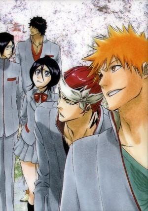 Uryu, Chad, Rukia, Renji and Ichigo
