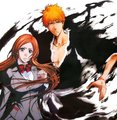 Ichigo and Orihime - bleach-anime fan art