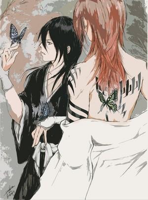 Renji and Rukia