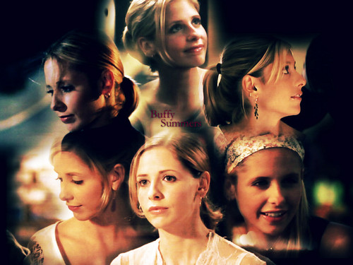 Buffy – Im Bann der Dämonen Hintergrund containing a portrait entitled Buffy Summers