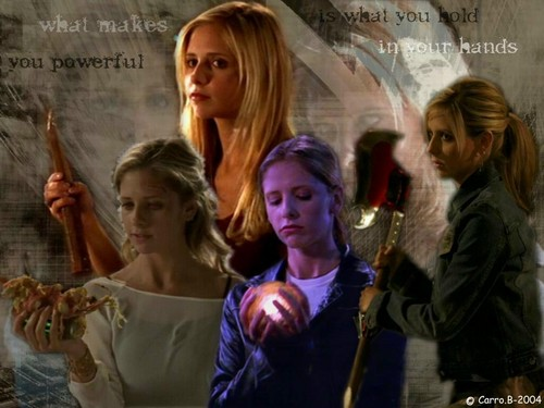 buffy, a caça-vampiros wallpaper possibly containing a portrait titled Buffy Summers