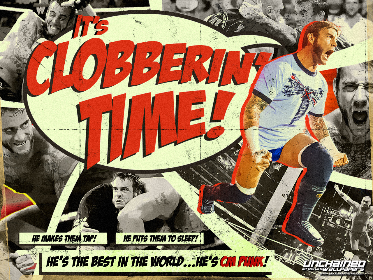 Cm Punk Its Clobberin Time Cm Punk Wallpaper 36463822