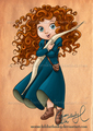 Little Merida - childhood-animated-movie-heroines fan art