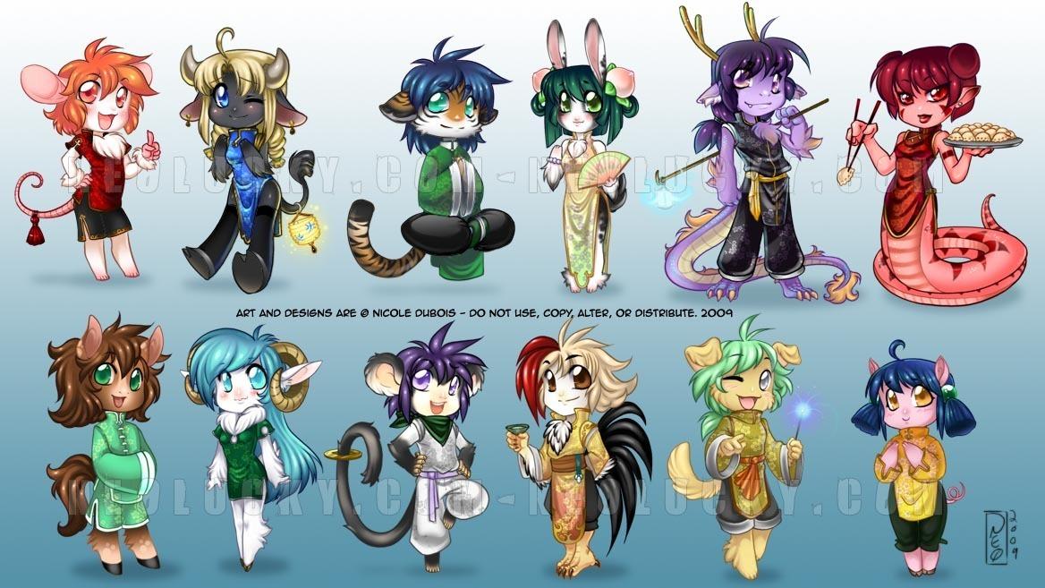 chibi anime zodiac