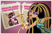 Cleo messing up Draculaura's Posters