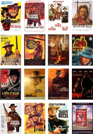 A3 laminated poster Clint Eastwood westerns