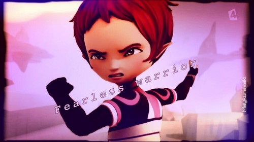 Code Lyoko kertas dinding possibly containing a portrait titled Aelita Schaeffer