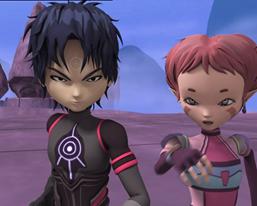 Code Lyoko fond d'écran entitled XANA-William and XANA-Aelita