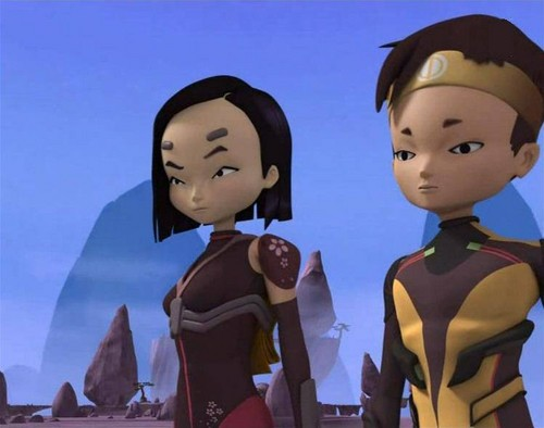 Code Lyoko kertas dinding probably containing a leotard, a swimsuit, and tights called Code Lyoko / Evolution